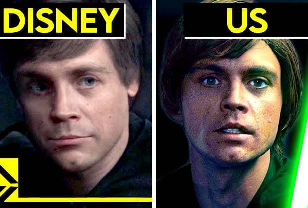 La cgi de Luke Skywalker retravaillée