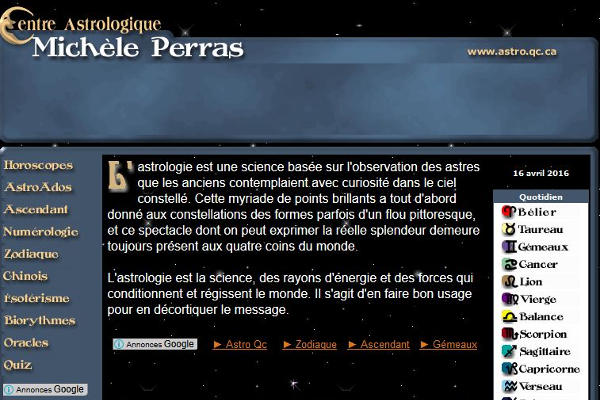 Centre astrologique Michèle Perras
