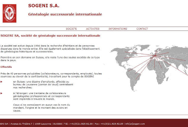 Sogeni Généalogie successorale internationale
