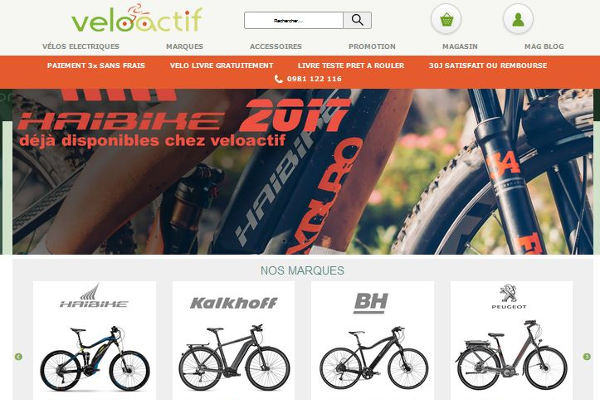 Veloactif spécialiste vélos électriques